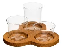 Podnos s miskami SAGAFORM Oval Oak Serving Set